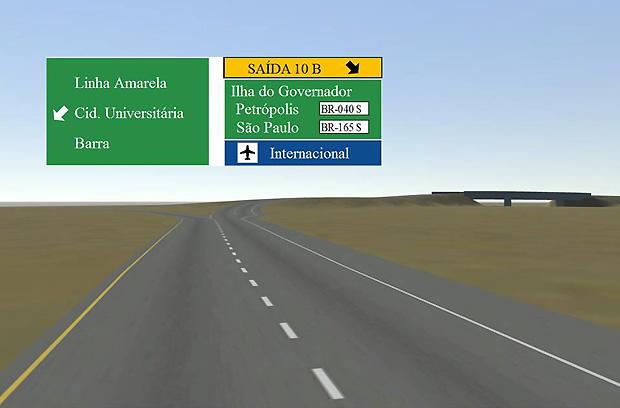 Saídas complexas em estradas são melhor detalhadas  (Foto: Divulgação)
