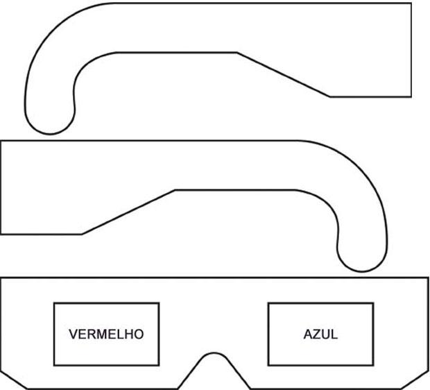 molde para óculos 3d (Foto: Arte G1)