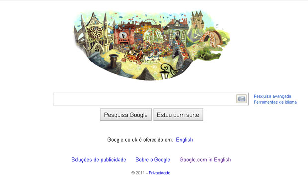 Logotipo do Google homenagei casamento real (Foto: Reprodução)