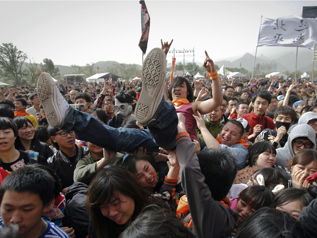 Festival de rock na China (Foto: AP)