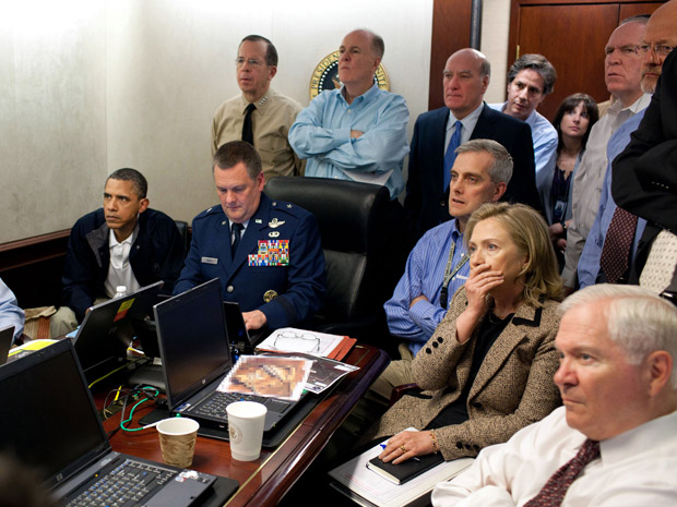 casa branca operação bin laden obama hillary (Foto: AP/Casa Branca)