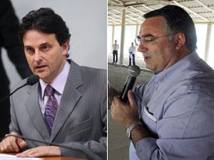 O deputado Paulo Bornhausen (esq.) e o governador de Santa Catarina, Raimundo Colombo (Foto: Divulgação / Agência Câmara, Governo de SC)