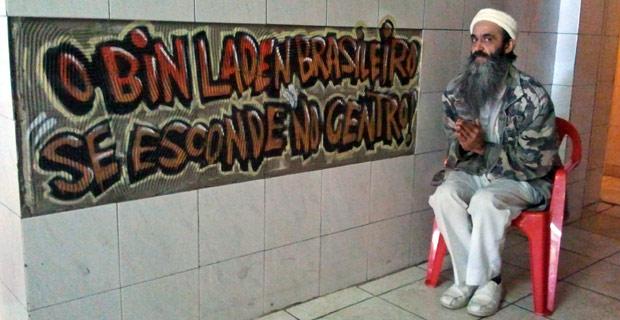 Bin Laden brasileiro recebeu homenagem de clientes de bar (Foto: Glauco Araújo/G1)