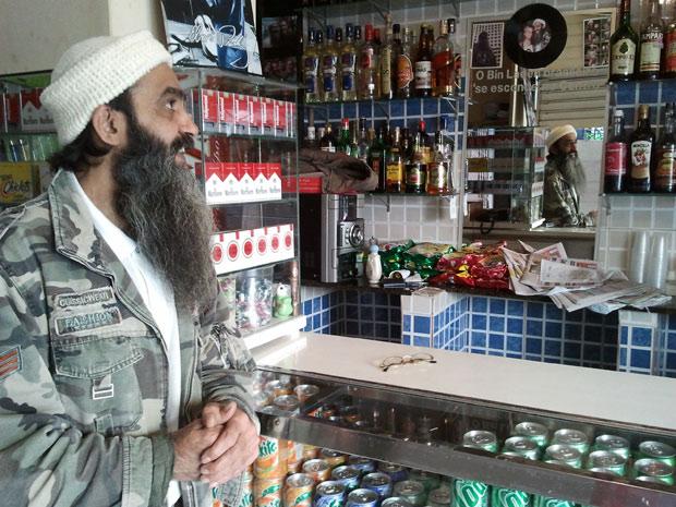 'Povo foi gostando do Bin Laden', diz sósia brasileiro em São Paulo (Foto: Glauco Araújo/G1)
