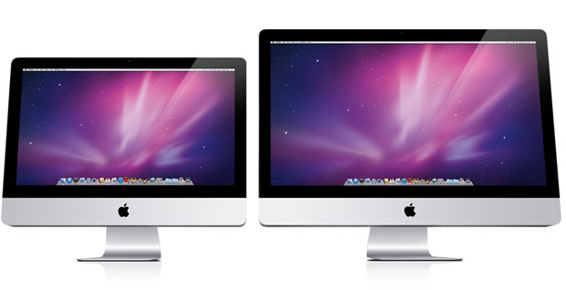 Novos iMac têm tela de 21,5 e 27 polegadas (Foto: Divulgação)