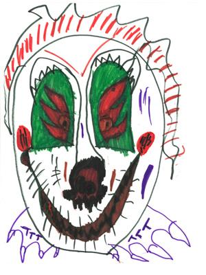 Um dos desenhos (Foto: Caters)