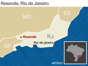 mapa Resende, RJ