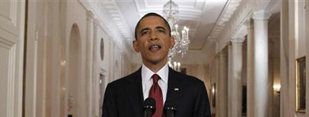 O presidente dos EUA, Barack Obama, anuncia a morte de Bin Laden (Foto: Reuters)