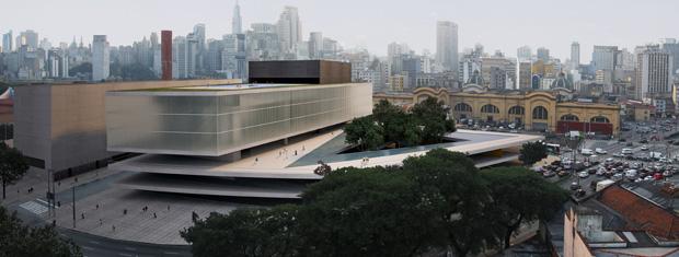 Concepção artística de como ficará o Parque Dom Pedro 2º (Foto: Divulgação/Prefeitura de São Paulo)