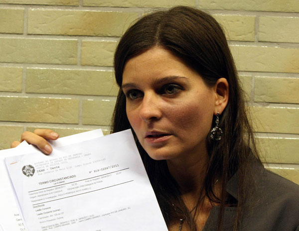 Professora acusa o aluno de soco (Foto: Kléber Júnior/Agência O Globo)