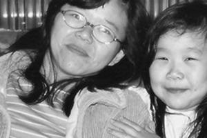 Bia homenageia a sua mãe Elisabete, que está no Japão (Foto: Bianca Mayumi/VC no G1)