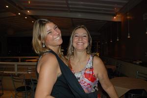 A filha Cecília mandou foto com a mãe Stella, sorrindo (Foto: Cecilia Paterno/VC no G1)