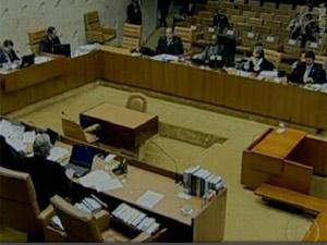 Plenário do Supremo nesta quinta (Foto: Reprodução / TV Globo)