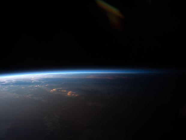 Por do sol América do Sul Nasa ISS 1 (Foto: Nasa)