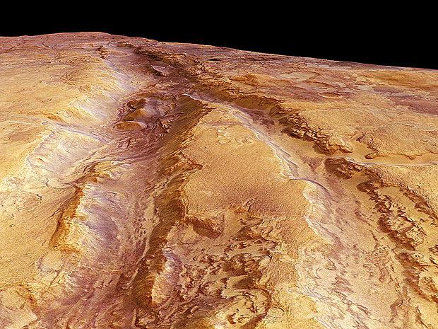 Fotografias foram feitas com a câmera de alta resolução da sonda Mars Express (Foto: ESA/DLR/FU Berlin)