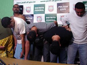 Polícia prende a maior quadrilha de 'saidinha' de banco de Brasília (Foto: G1 DF)