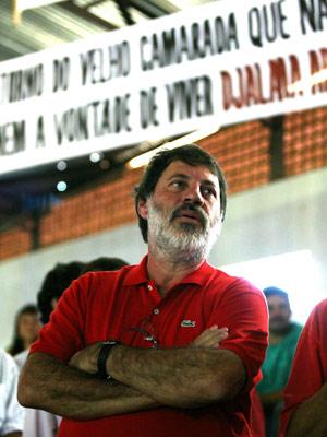 Delúbio na festa do PT em Buriti Alegre (GO) (Foto: Ed Ferreira / Agência Estado)