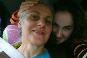 Adriana manda recado para a mãe, Lourdes (Foto: Adriana Maziero/ VC no G1)