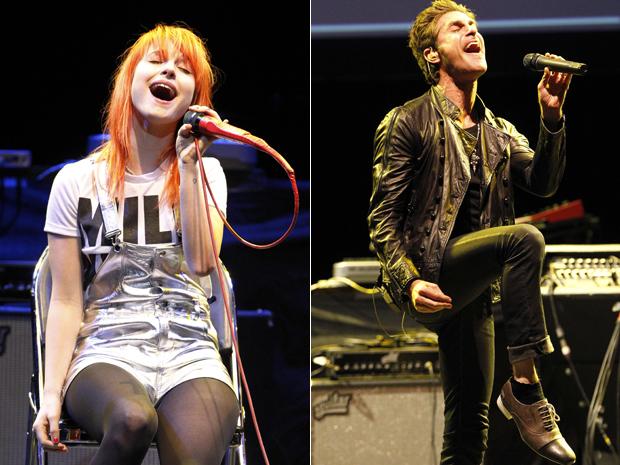Hayley Williams, do Paramore, e Perry Farrell, do Jane's Addiction, se apresentam na 7ª edição do show beneficente promovido pela fundação MusicCares nesta sexta-feira (6) (Foto: Reuters)