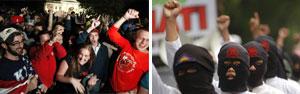 Comemoração e revolta: veja imagens da reação à morte de Bin Laden pelo mundo (AFP/Reuters)