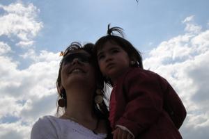 Recado dia das mães (Foto: Daniela Paula Santarelli/VC no G1)