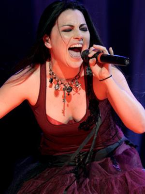 Amy Lee, vocalista da banda Evanescence. (Foto: Daigo Oliva/G1)