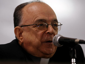Cardeal Raymundo Damasceno, na 49ª Assembléia Geral da CNBB, em Aparecida. (Foto: HÉLVIO ROMERO/AGÊNCIA ESTADO/AE)