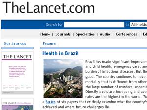 Publicação britânica destaca o estudo (Foto: The Lancet / reprodução)