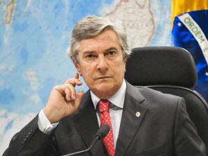 Fernando Collor em comissão do Senado (Foto: Agência Senado)