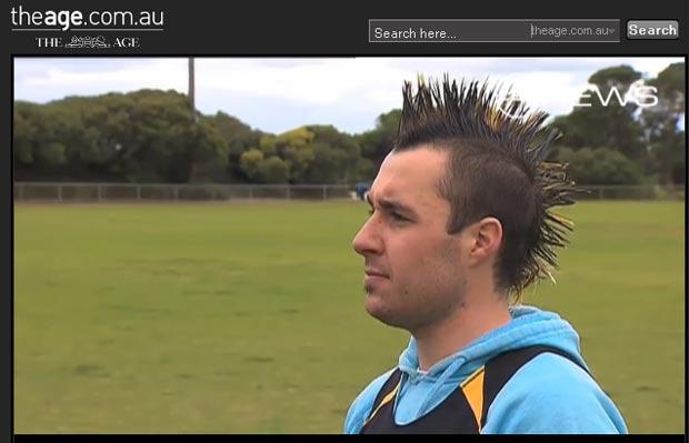 Nathan Van Someren foi expulso por causa do penteado 'perigoso'. (Foto: Reprodução)