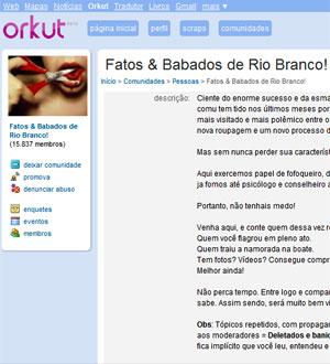 Comunidade sobre moradores de Rio Branco chegou a ter mais de 15 mil usuários (Foto: Reprodução)