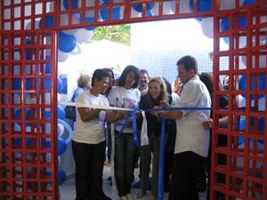 Inauguração da creche (Foto: Thamine Leta/G1)