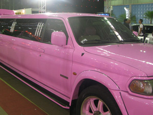 Noivas alugam limousine cor de rosa para as despedidas de solteira (Foto: Tássia Thum/G1)