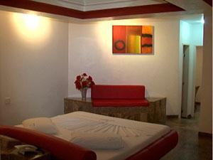 Suíte do motel cujo período foi rifado (Foto: Reprodução/ TVBA)
