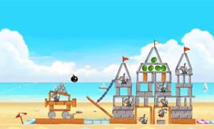 'Beach Volley' é a atualização do game 'Angry Birds Rio' (Foto: Divulgação)