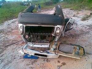 Acidente na Bahia (Foto: Divulgação/PRF)