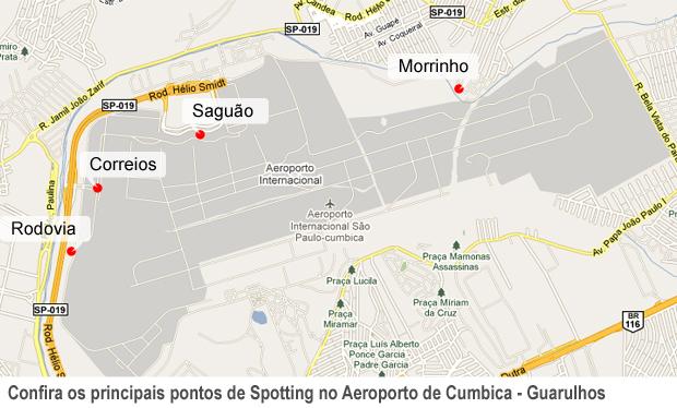 Confira os principais locais de Spotting no Aeroporto de Cumbica (Foto: Fabiano Correia/ G1)