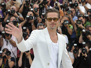 Brad Pitt em Cannes (Foto: Reuters)