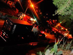 Protesto em Caetité (BA) (Foto: Reprodução/TVBA)