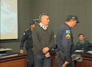 Major Carvalho em julgamento - Campo Grande Mato Grosso do Sul (Foto: Reprodução/TV Morena)