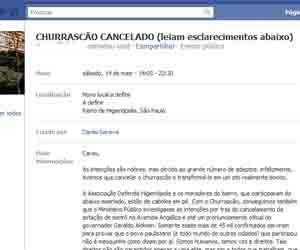 facebook churrasco gente diferenciada (Foto: Reprodução)