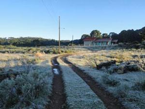 Termômetros do Epagri/Ciram registraram 2,5ºC nesta terça-feira (Foto: Divulgação/Marília de Oliveira/Prefeitura Municipal de Urupema)