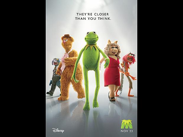 Primeiro pôster do novo filme dos 'Muppets', que chegará aos cinemas no final de novembro (Foto: Divulgação)