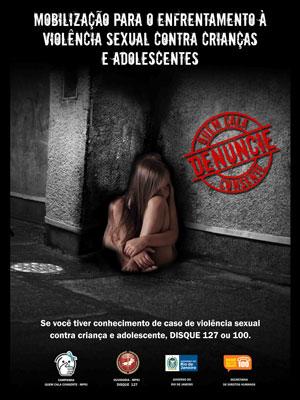 Cartaz campanha MP abuso sexual (Foto: Divulgação/Ministério Público)