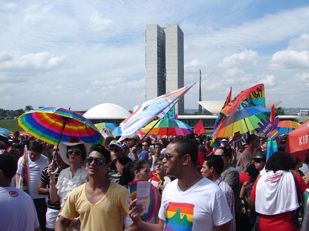 2ª Marcha Nacional Contra a Homofobia na Esplanada dos Ministérios (Foto: G1 DF)