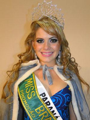 Joice de Andrade foi eleita Miss Brasil Globo e foi comemorar no Paraguai (Foto:  Divulgação/Octávio D'Ávila)