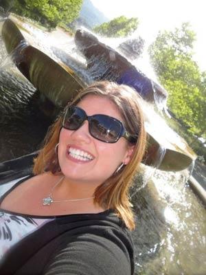 Kenlie Tiggeman contou a experiência em seu blog (Foto: Arquivo pessoal)