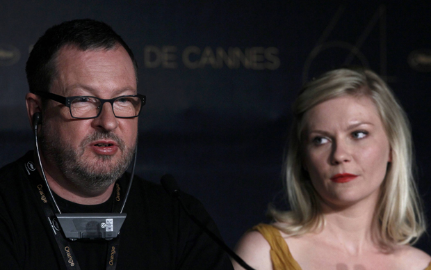 Lars Von Trier e Kirsten Dunst (Foto: Reuters)