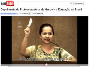 Vídeo com discurso da professora foi muito acessado no YouTube (Foto: Reprodução/YouTube)
