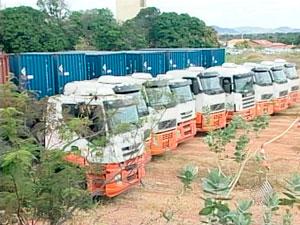 Impasse com a carga de urânio no sudoeste do estado da Bahia continua (Foto: Reprodução/TV Bahia)